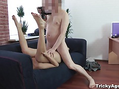 Tricky agent - modest blondy turns to be really starving for sex! tubes