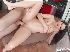 Beautiful long black hair on a doggystyle girl tubes