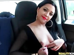 Latina slut jessica fuentes goes for a car ride tubes