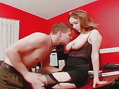 Eating out a hot milf cunt in the office tubes