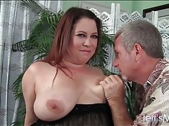 Beautiful fat girl in lingerie licked all over tubes