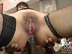 Dana vespoli double penetration with black dicks tubes