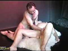 Oldnanny big tits bbw granny have a threesome sex hardcore tubes