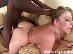 Pulling her hair and pounding her slutty white pussy tubes
