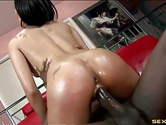 Black cock meets a sloppy wet latin cunt tubes