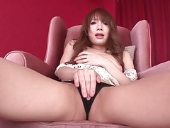 Cunt rubbing and tit fondling solo japanese girl tubes