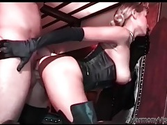 Leather boots are sexy on an ass fucked glamour girl tubes