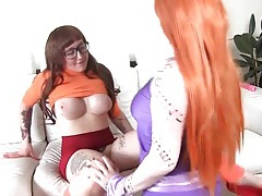Scooby doo cosplay porn with licking lesbians tubes