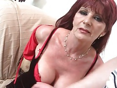 Fondling old titties excites his cock for a bj tubes