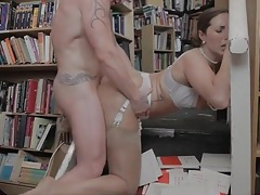 Doggystyle sex in the library with a big ass babe tubes