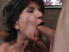 Hot body grandma gives head and gets laid tubes