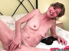 Grandma's pussy needs finger fucking tubes