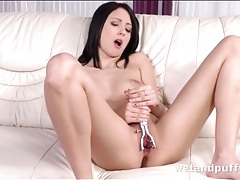 Teen plays with her speculum and fingers her ass tubes