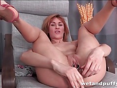 Speculum play opens up that beautiful pussy tubes