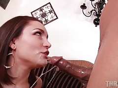 Sloppy cocksucking from a horny tattooed slut tubes