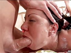 Messy titjob gets him rock hard to fuck her pussy tubes