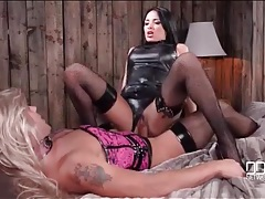 Crossdresser fucks leather mistress anissa kate tubes