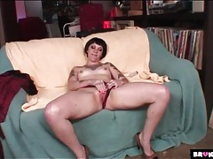 Sexy tattooed chest and arms on a toy banging girl tubes