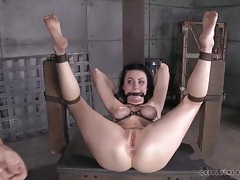 Hard cocks use the asshole of a bound slave tubes