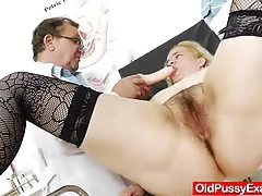 The gynecologist drops into action with elena muff tubes