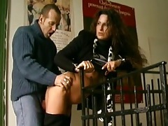Sex in the apartment hallway with a hot brunette tubes