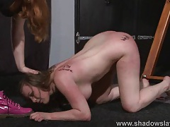 Bizarre lesbian bdsm and slapping tubes