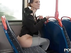Flashing and peeing in public turns this hottie on tubes