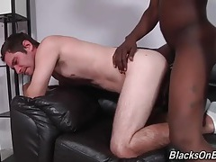 Bbc slides into tight white ass from behind tubes