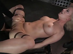 Throat and cunt of a bound girl used by two guys tubes