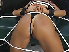 Bent over and tied submissive fucked from behind tubes