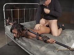Bondage sex scene with skin diamond tubes