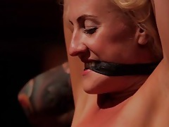 Tempting group sex with gagged and bound girls tubes