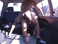 Anal in the back of his van with a hot shemale tubes