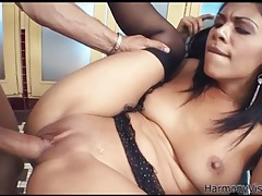 Dick wears out her slutty latina asshole tubes