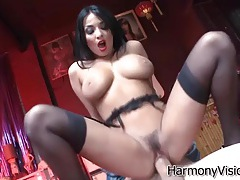 Lipstick and stockings on butt fucked anissa kate tubes