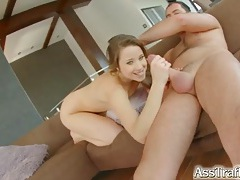 Beautiful girl with long wavy hair wants cock up the ass tubes