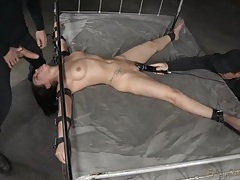 Oral slave bound in the dungeon and face fucked tubes