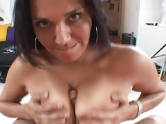 Milf with a marvelous smile loves pleasuring his dick tubes