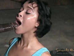 Slut with bound hands face fucked by two guys tubes