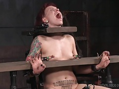 Extreme nipple pain for bound girl elizabeth thorn tubes
