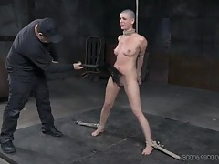 Tied girl cries from the pain of her bdsm abuse tubes