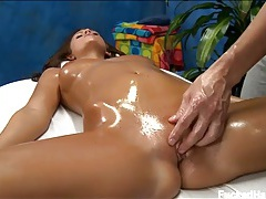 Oiled up whitney westgate fucked on a massage table tubes