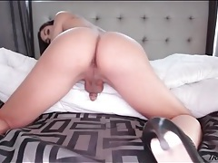She is shemale perfection as she shows off her ass tubes