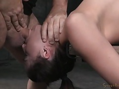 Slut bound to a table and mouth fucked by a master tubes