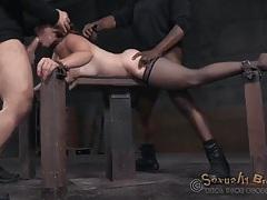 Spit roasted bondage slave used by two guys tubes