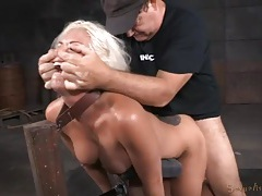 Sex slave with a tramp stamp used by two guys tubes