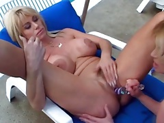 Dirty lesbian mommies eat pussy outdoors tubes