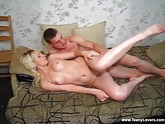 Teen on her hands and knees taken from behind tubes