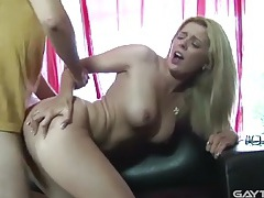 Babe bounces on a cock with her perfect cunt tubes