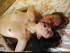 Thick cock guy hammers a girl in vintage porn tubes